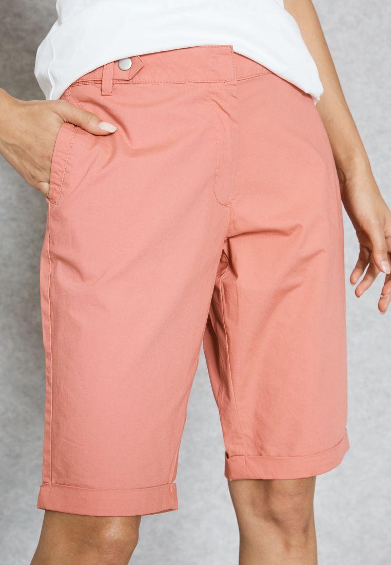 Stud Detail Roll Cuff Shorts