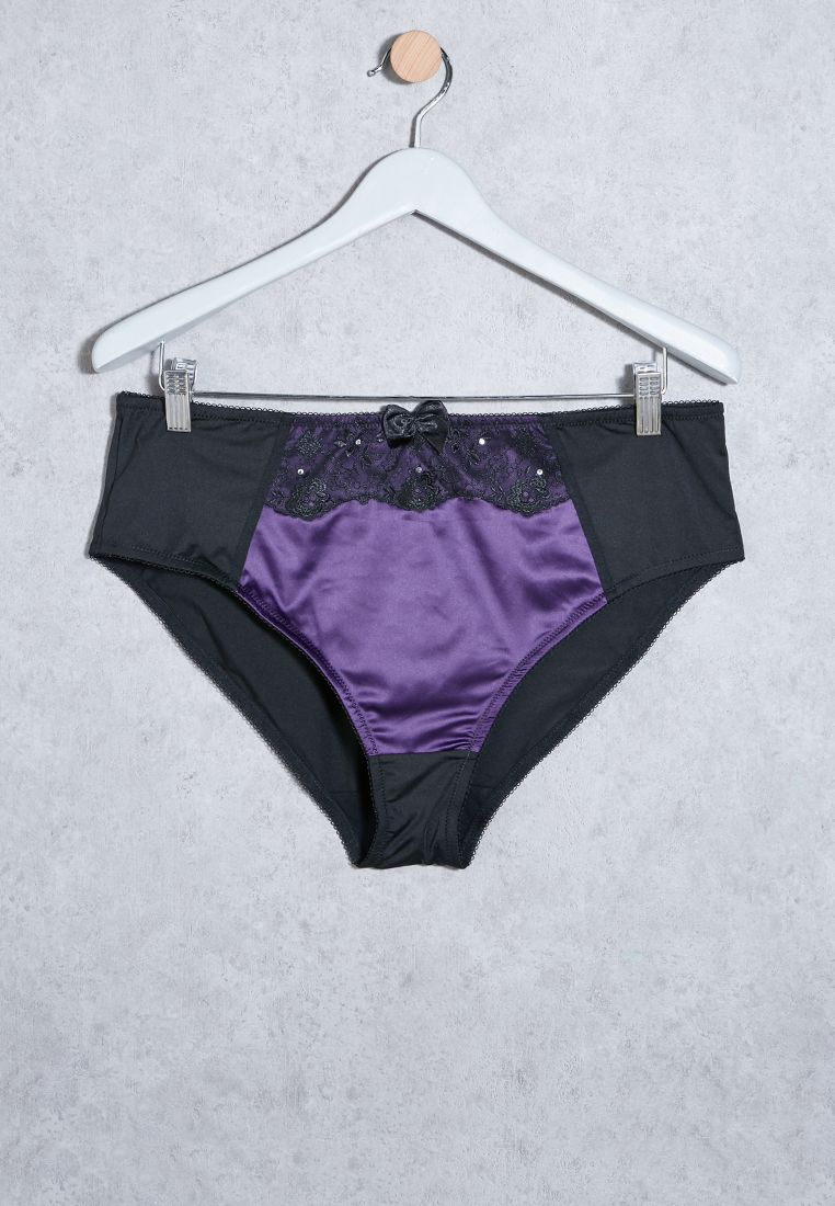 Lace Detail Bow Brief