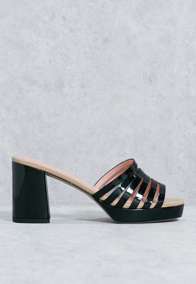 Strappy Vamp Mule Sandals