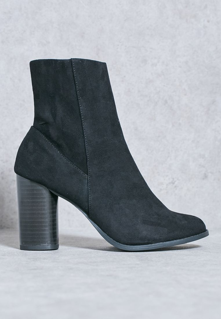 Audrey Cylindrical High Ankle Boots