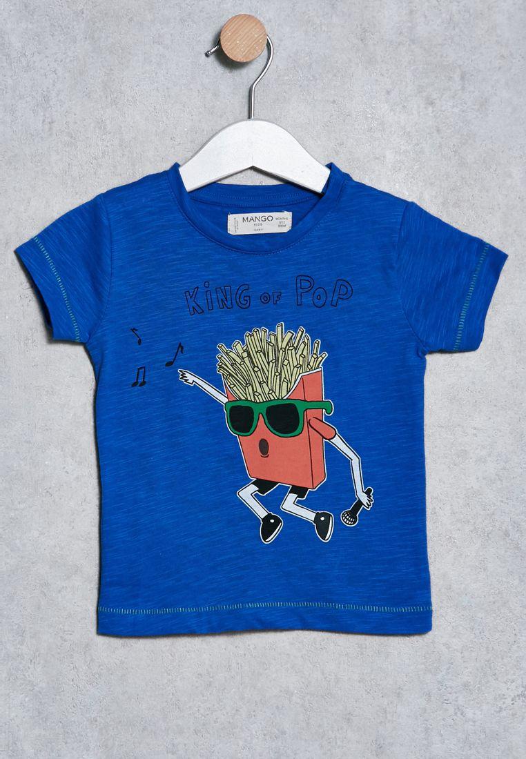 Infant Popcorn Print T-Shirt