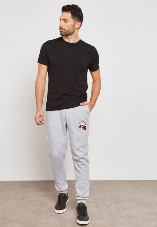 Skull Embroidered Sweatpants