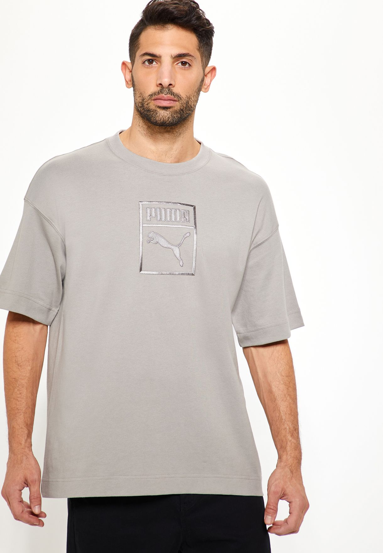 df93c5863ee6 Shop PUMA grey Downtown T-Shirt 57671238 for Men in Kuwait - PU020AT99BAY