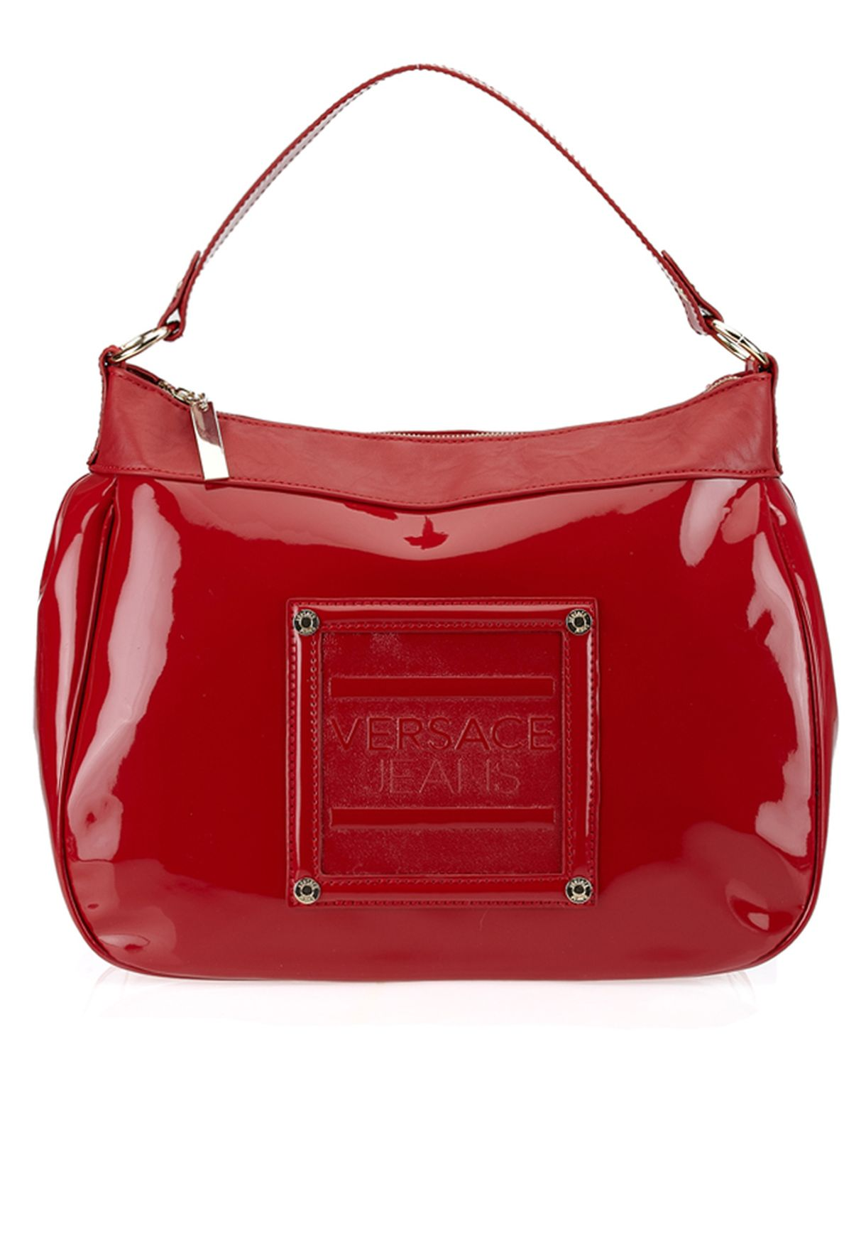 5cd148c57c Shop Versace jeans couture red Patent Hobo for Women in UAE ...