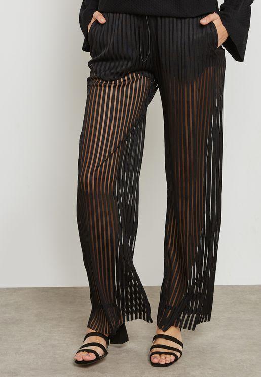 Striped Sheer Pants