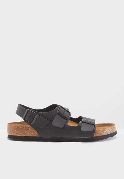 Double Buckle Sling Back Sandals