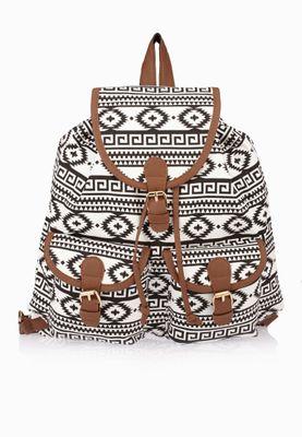 Ginger Aztec Print Backpack