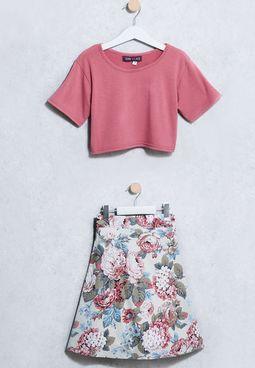 Tween Top + Skirt Set
