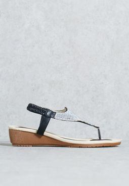 Embellished wedge sandal