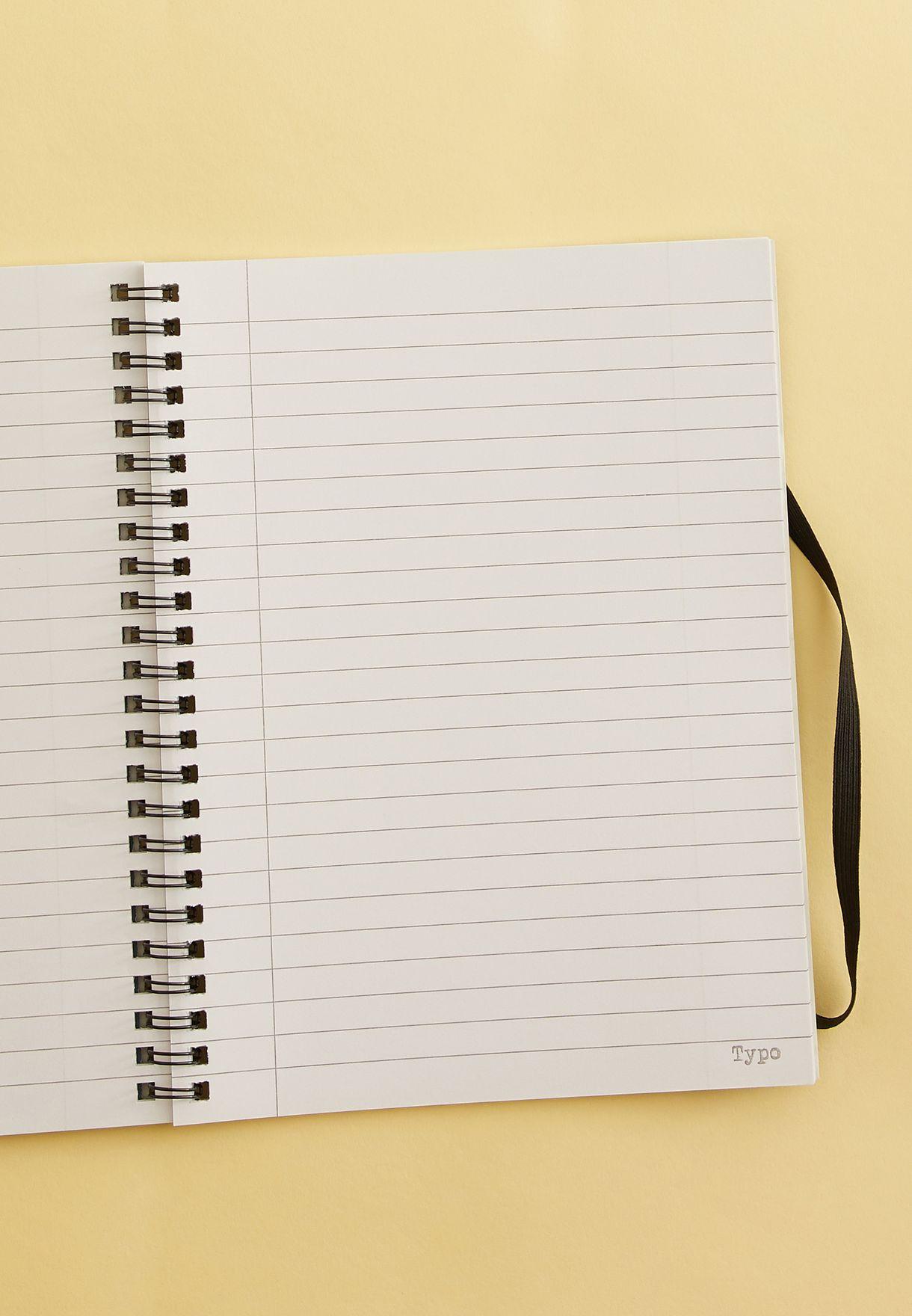 دفتر ملاحظات A5 بطباعة ازهار