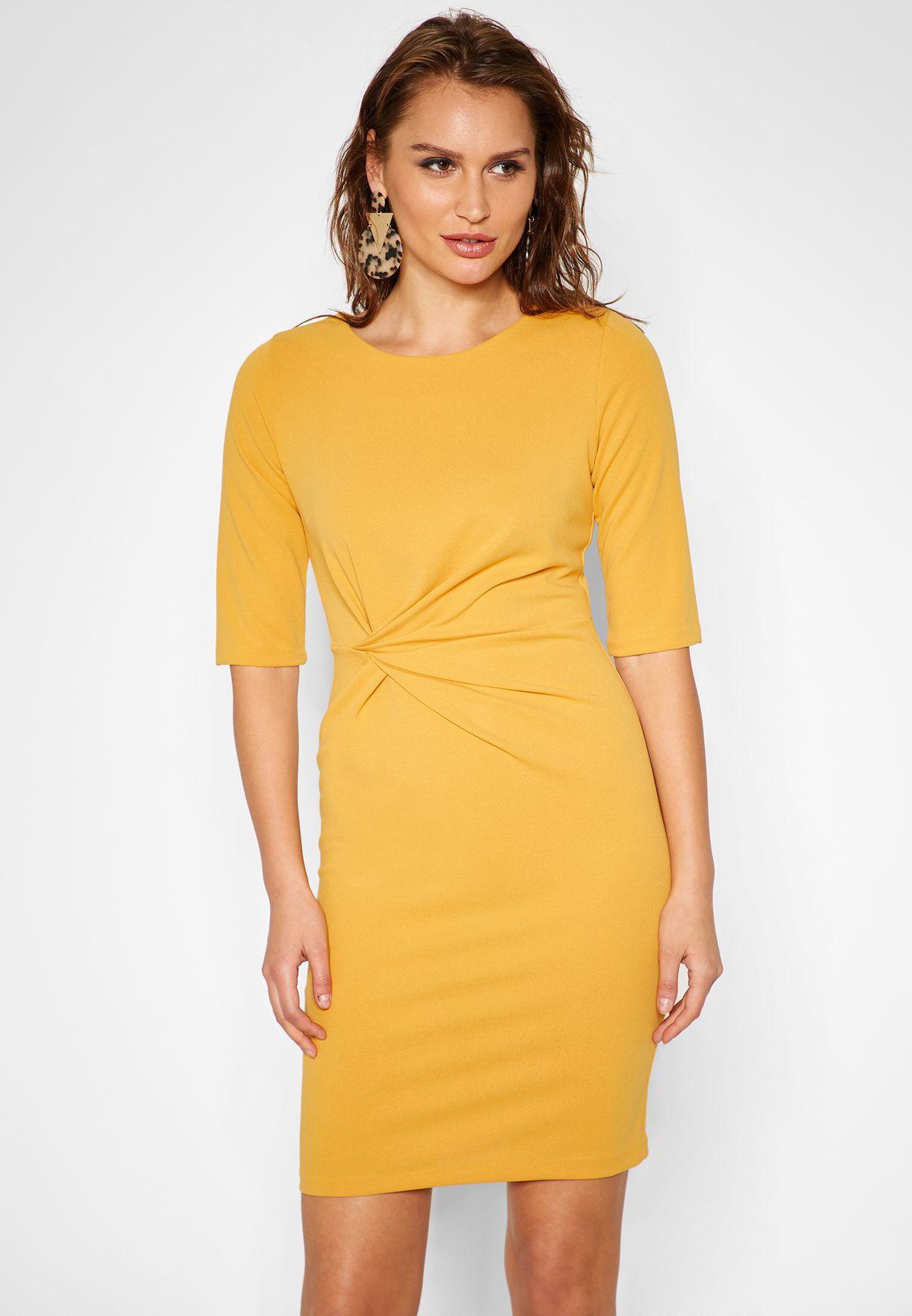 Ruched Detail Mini Dress