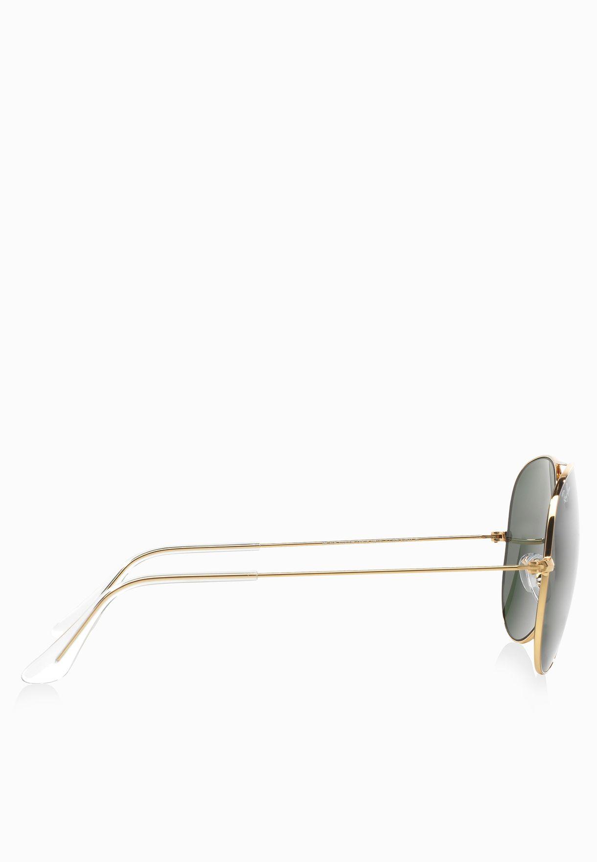 نظارة شمسية افياتور معدنية كبيرة II
