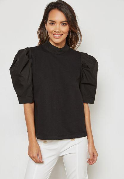Puffed Sleeve Top