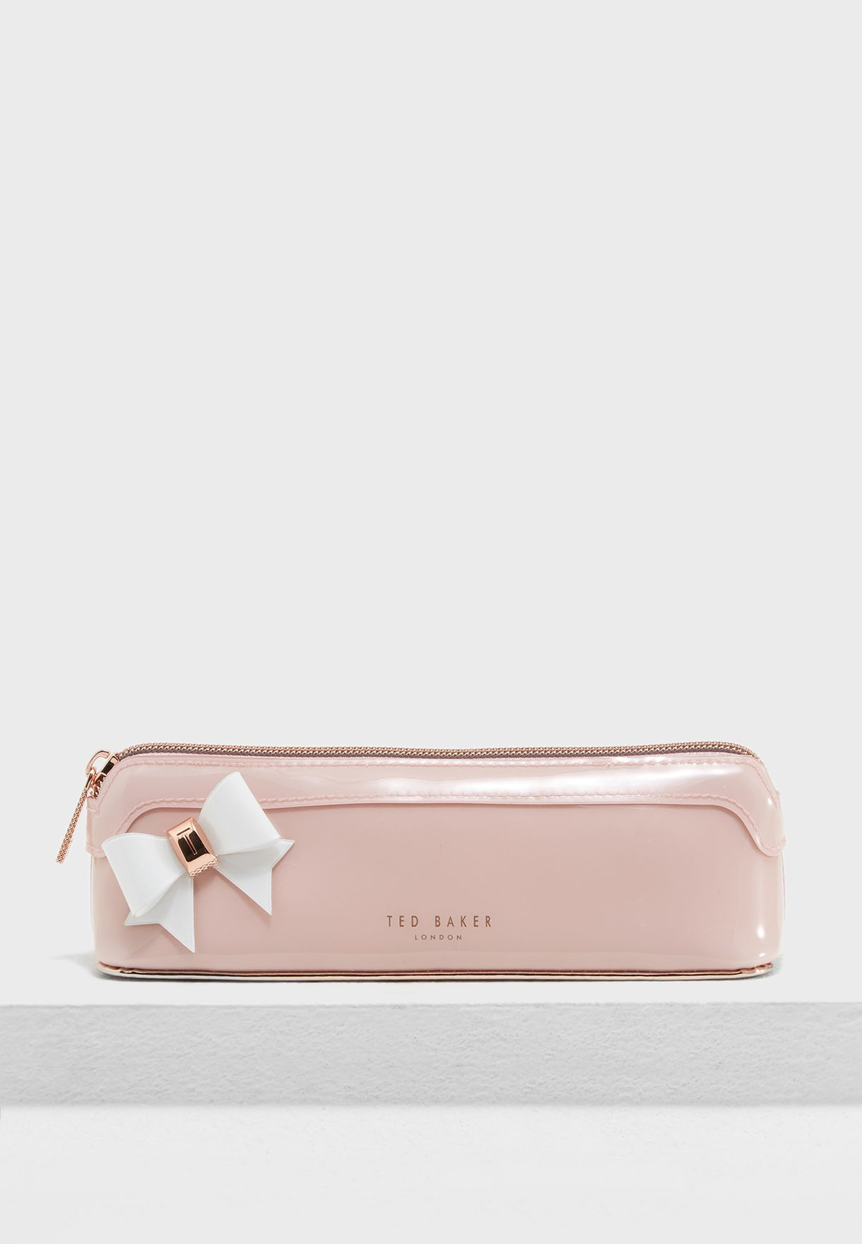 fd251c70a Shop Ted baker pink Bow Pencil Case 146589 for Women in UAE ...