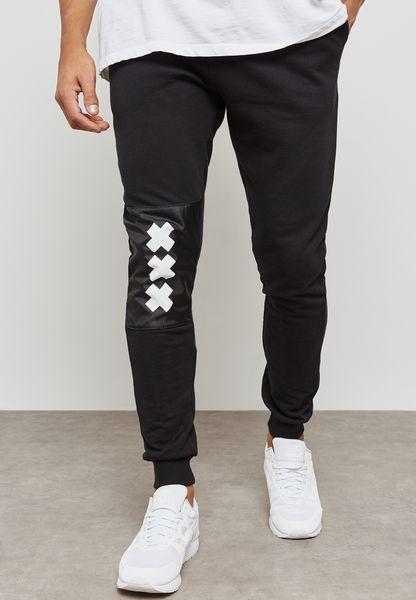 Knee Print Detail Sweatpant
