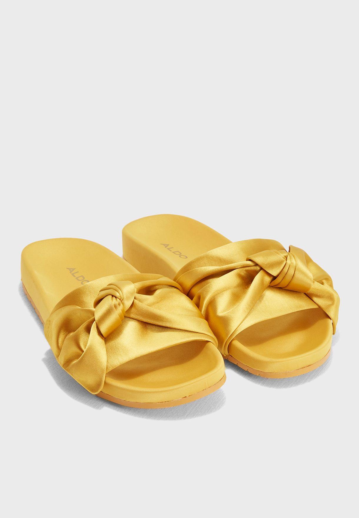 db5871f1ade8 Shop Aldo yellow Cadacly Flat Sandal CADACLYA69 for Women in Qatar ...