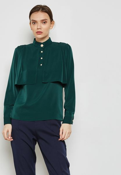 Pearl Button Layered Top
