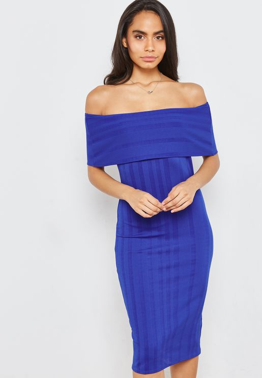 Bardot Bodycon Midi Dress
