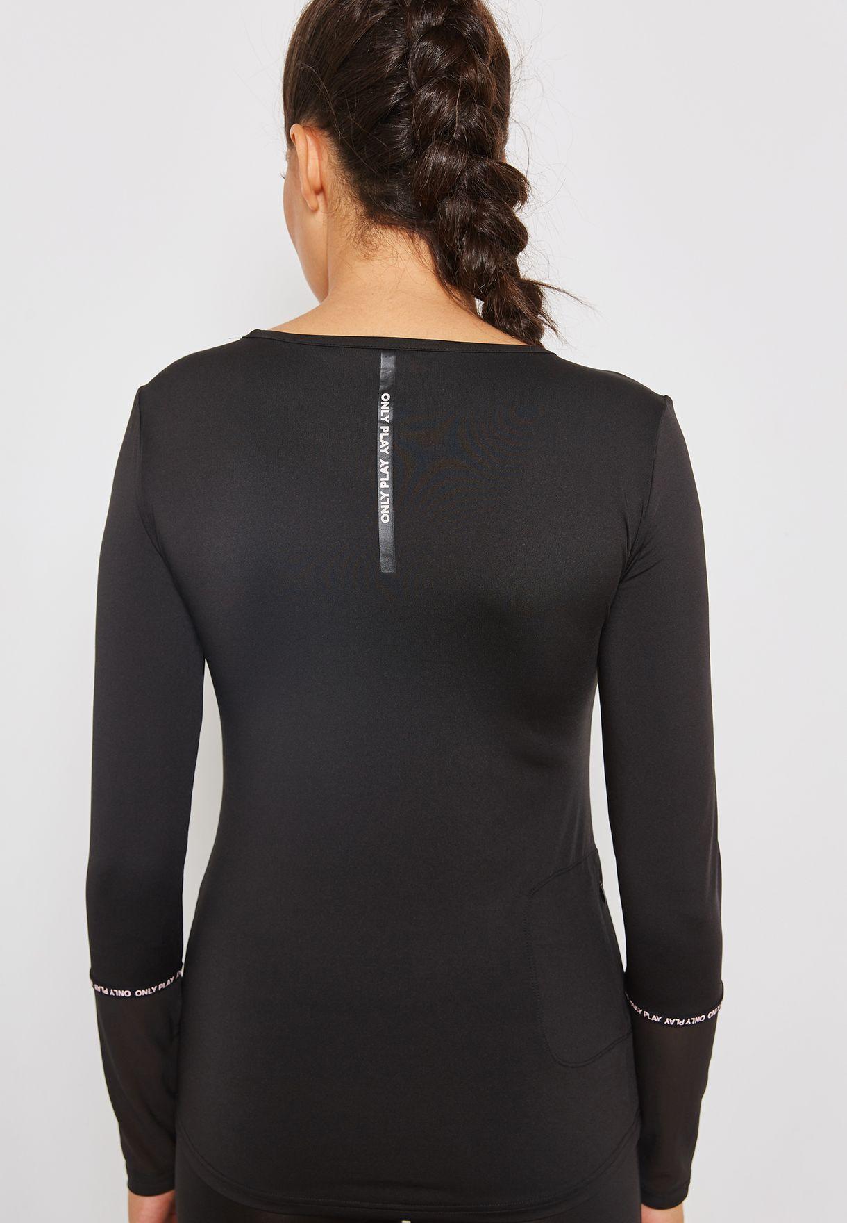 Mesh Sleeve Detail T-Shirt