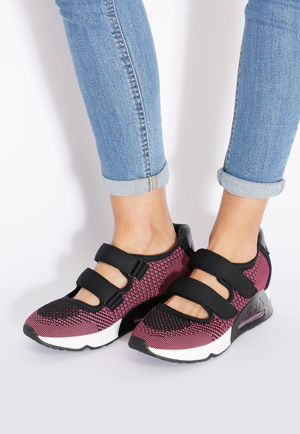 9194f5ae2208 Shop Ash pink Lulu Velcro Strap Sneakers for Women in UAE - AS742SH99WNG