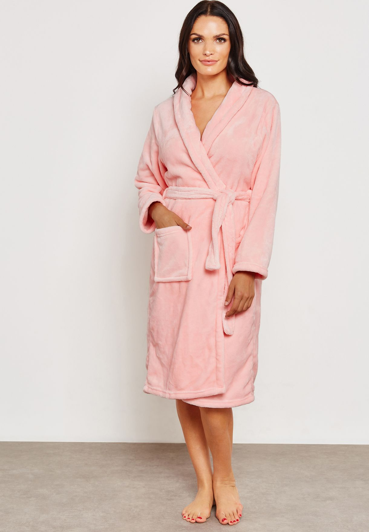 13a36b425aac Shop Lounge District pink Soft Fleece Robe G27 for Women in Qatar -  LO950AT99DVC