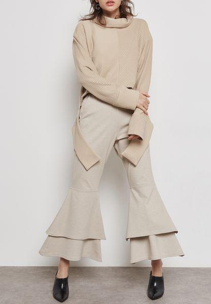 Wide Leg Layered Pants
