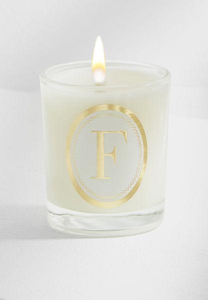 F Alphabet Votive Candle