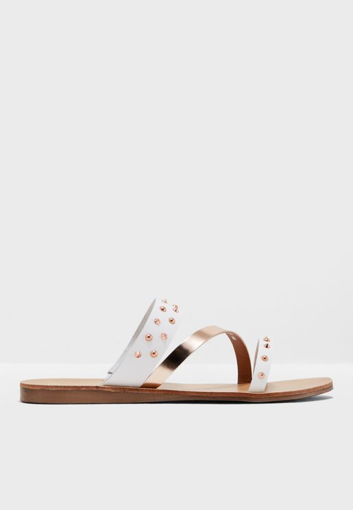 Lizabelle Di Thick Strap Stud Sandals