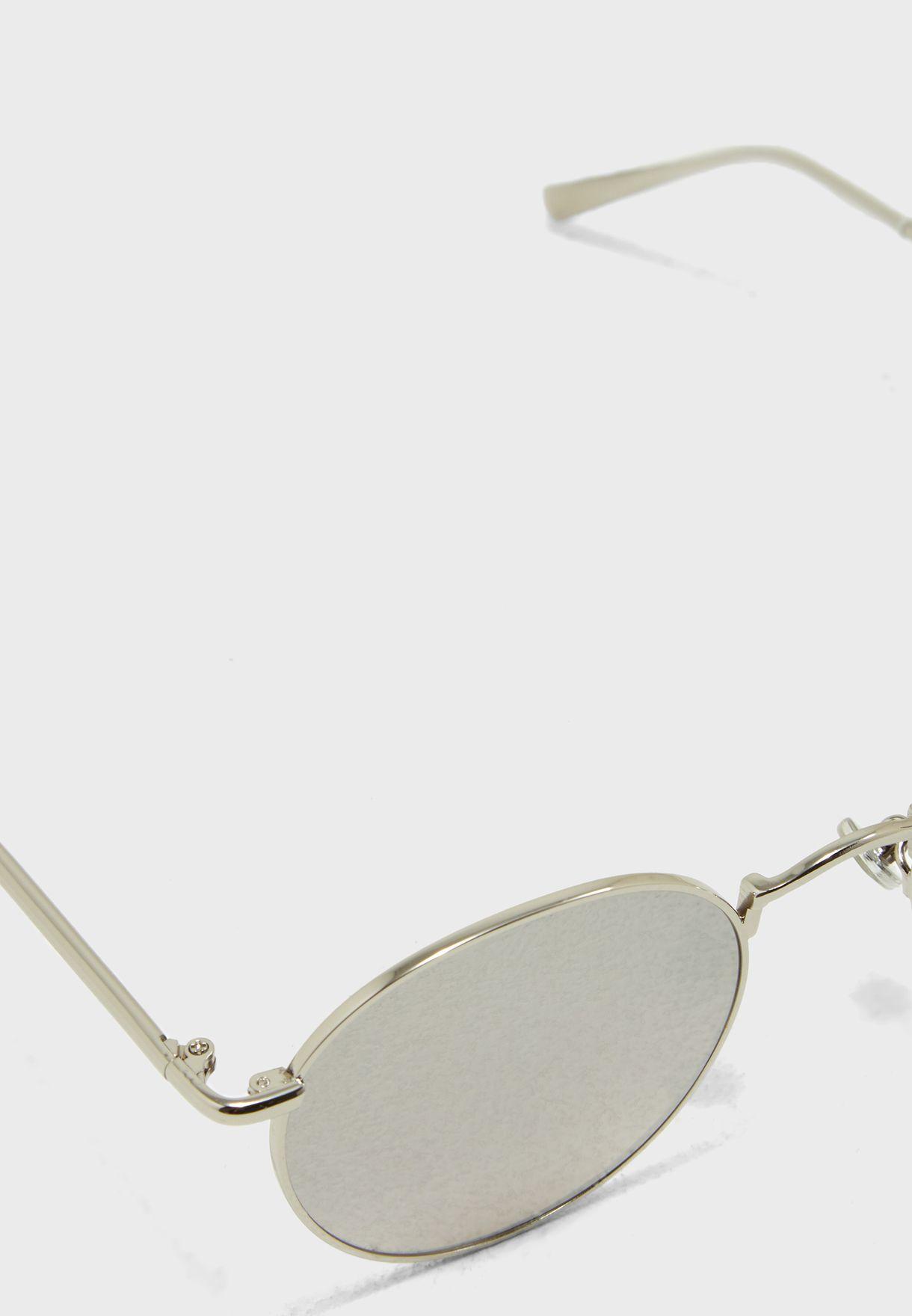 نظارة شمسية دائرية عاكسة