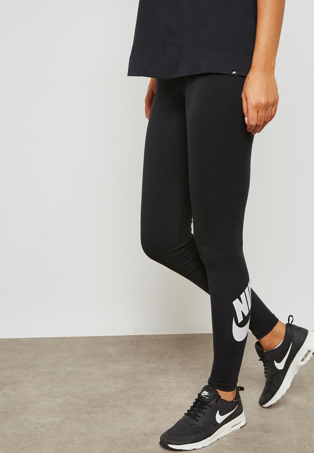 6ed10c9ae743 Shop Nike black Futura Club Leggings 929176-010 for Women in UAE ...