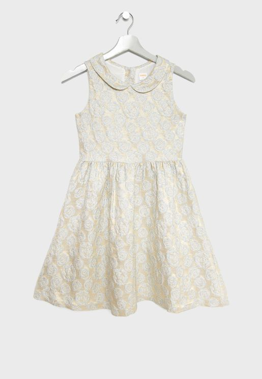 Kids Rose Jacquard Dress
