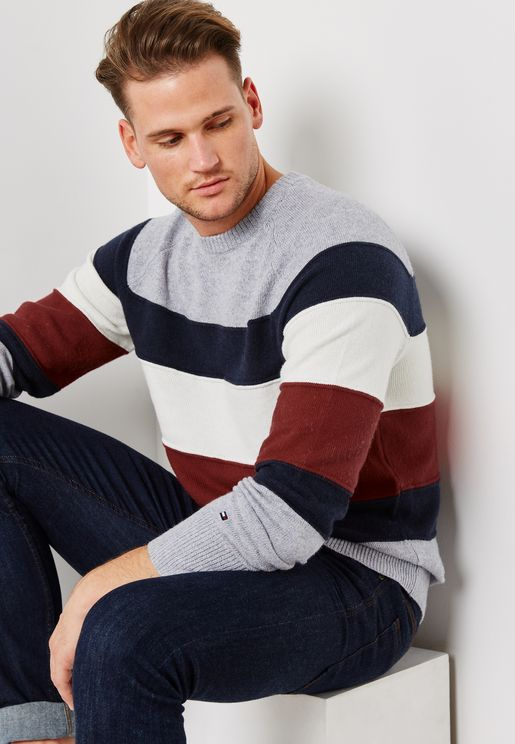 Colourblock Striped Sweater