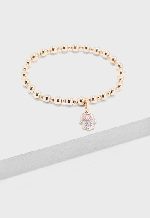 Hamsa Hand Charm Bracelet