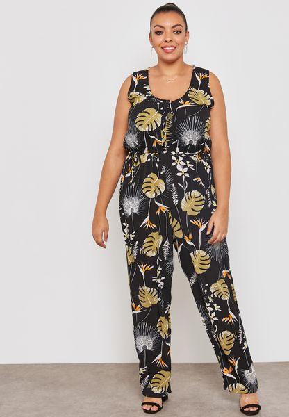 Floral Print Self Tie Jumpsuit