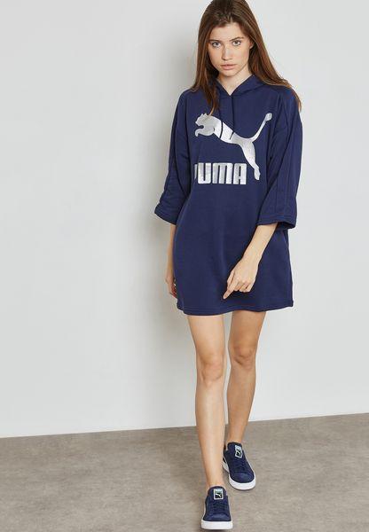 Puma. Glam Oversized Hooded Dress