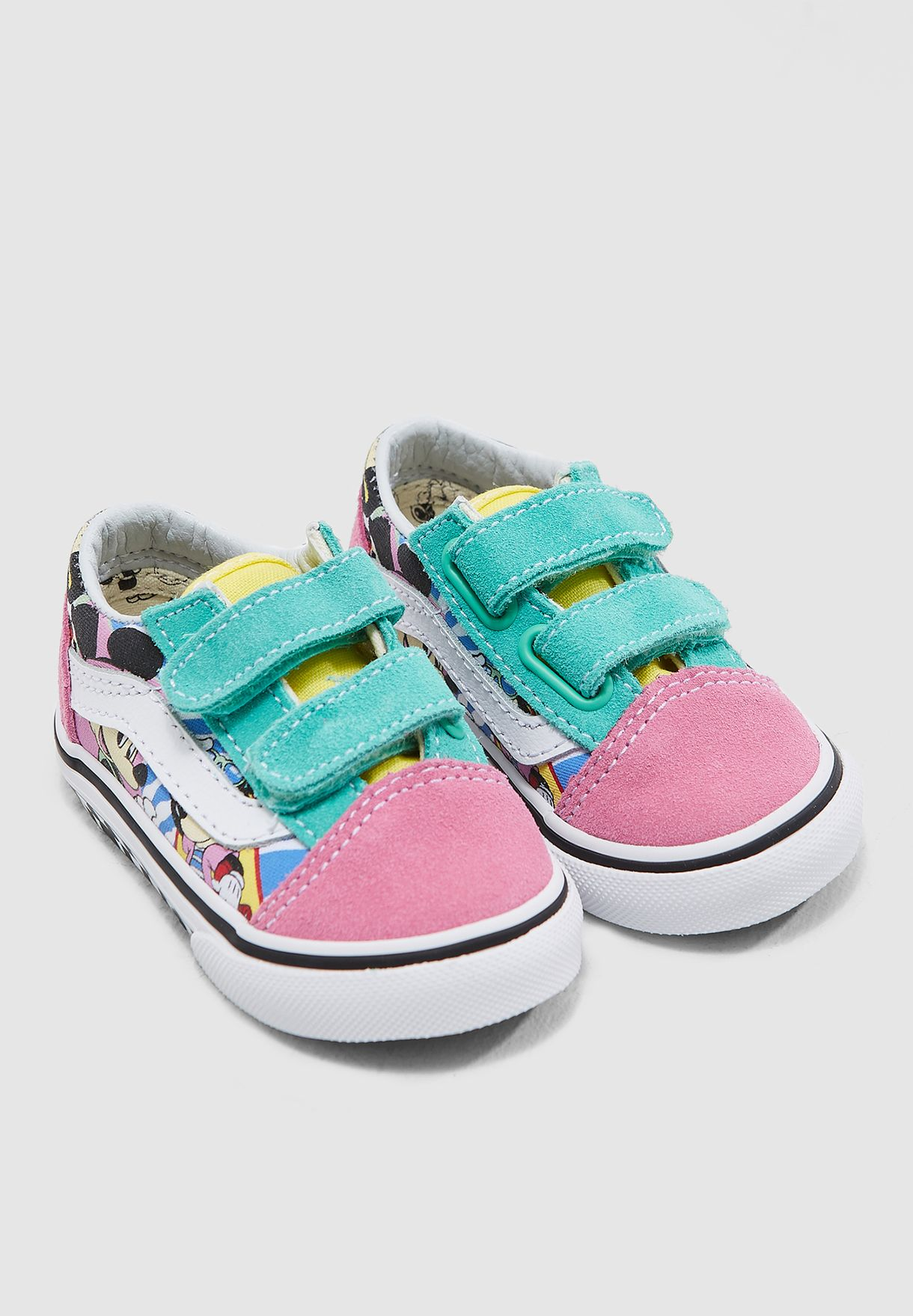 Shop Vans multicolor Infant Mickey Old Skool V VA344KUJE for Kids ... 7b94b1374
