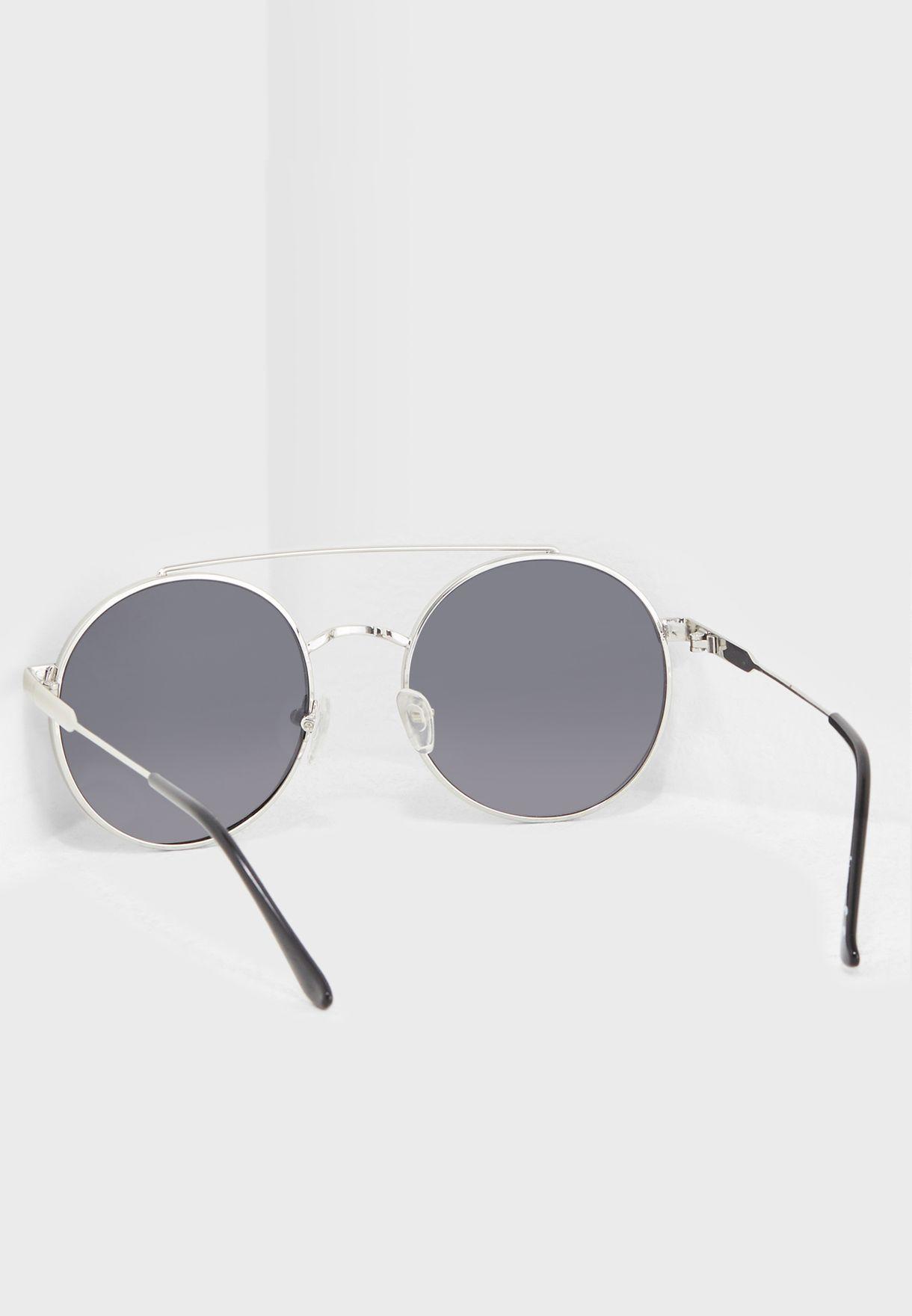 نظارات شمسية دائرية بجسر مزدوج