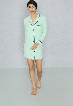 Contrast Piping Nightdress