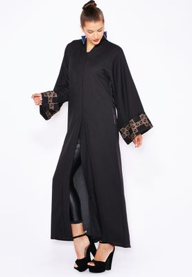 Haya's Closet Embroidered Back Abaya