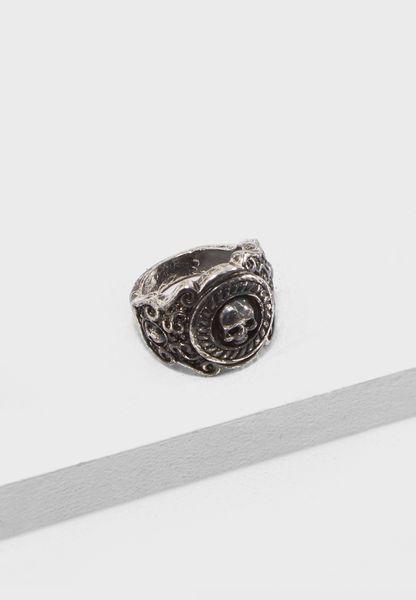 Medium Brushed Signet Ring