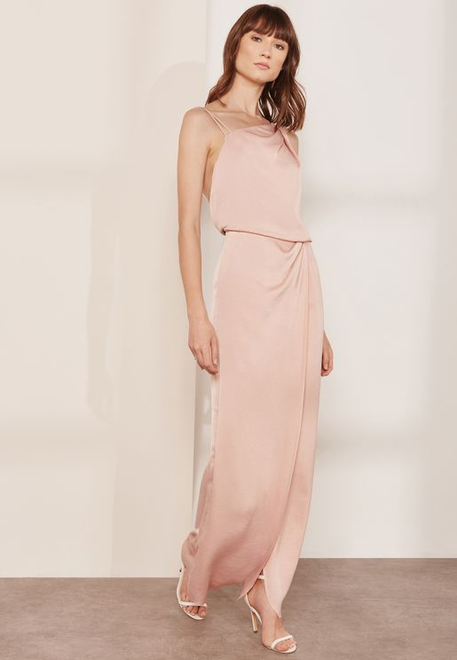 One Shoulder Me Ostia Maxi Dress