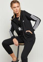 Antídoto Nuestra compañía Absurdo  Buy adidas black Essential 3 Stripe Hoodie for Women in MENA, Worldwide |  S97059