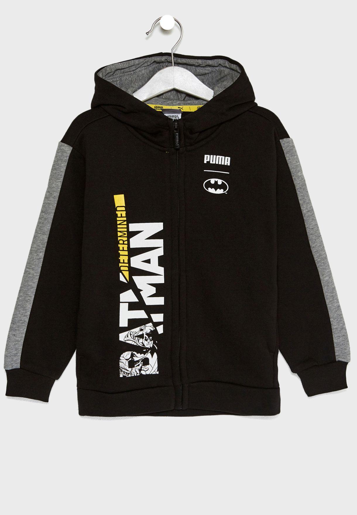 Black Hoodie Puma Shop Batman For 85203501 Kuwait Kids In zwvI5BIq4
