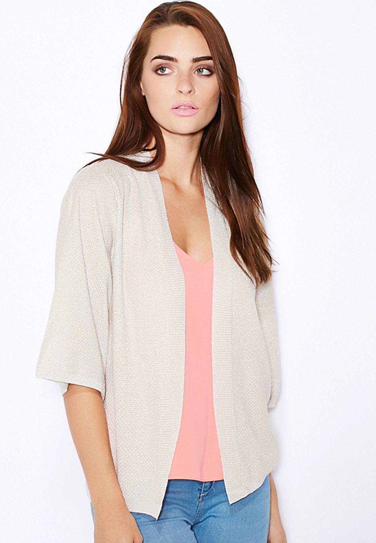 fa3feeb8 Shop Dorothy Perkins grey Sparkle Kimono 55425100 for Women in UAE ...