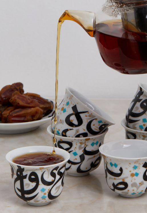 طقم فناجين قهوة من 6 قطع