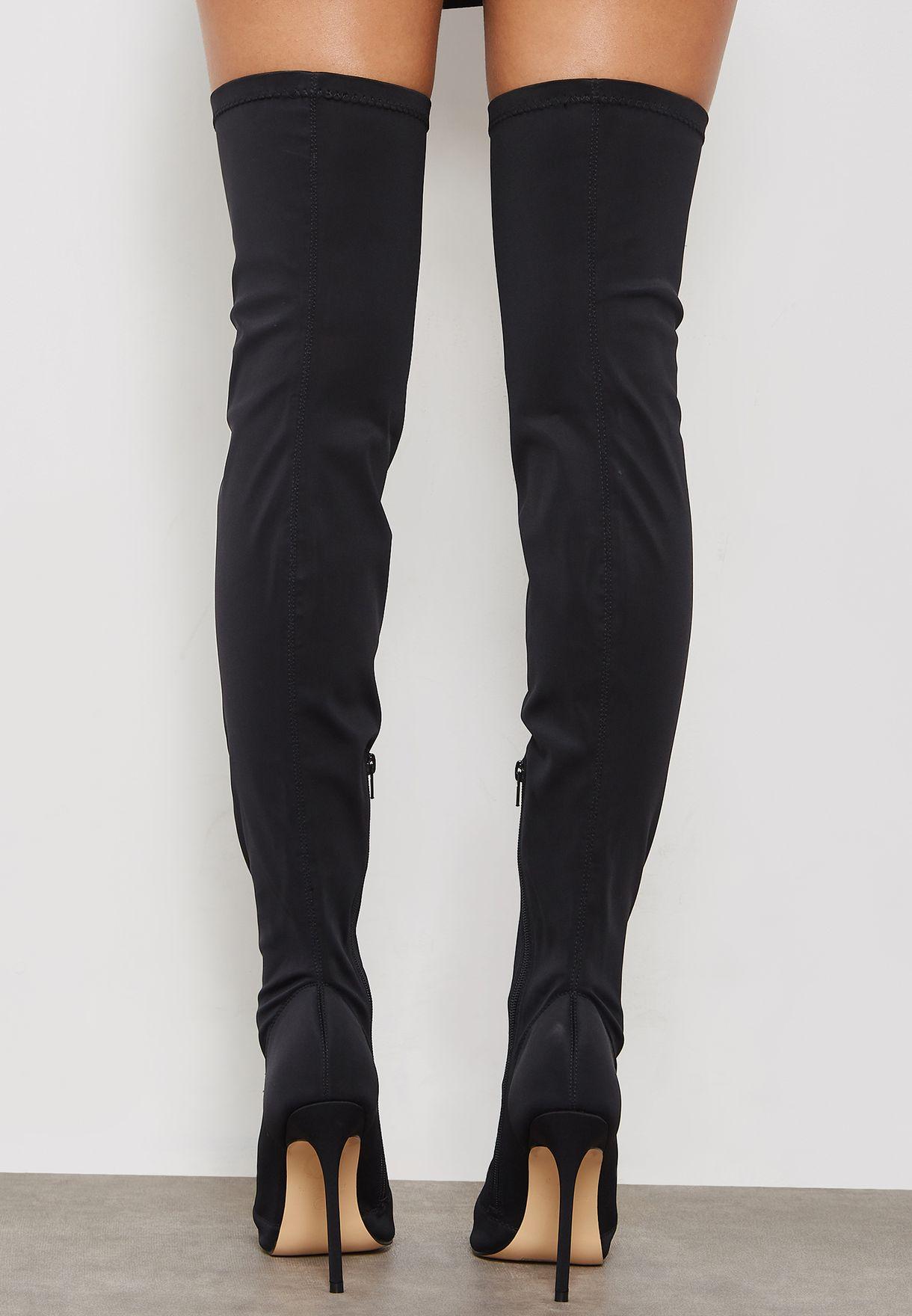 3cff43d7bb8 Shop Truffle black Hot Knee Boot HOT46 for Women in Qatar - TR619SH89QOG