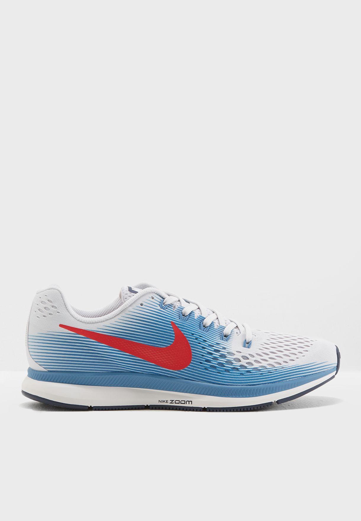 3fad75a0a272c Shop Nike white Air Zoom Pegasus 34 880555-016 for Men in UAE ...