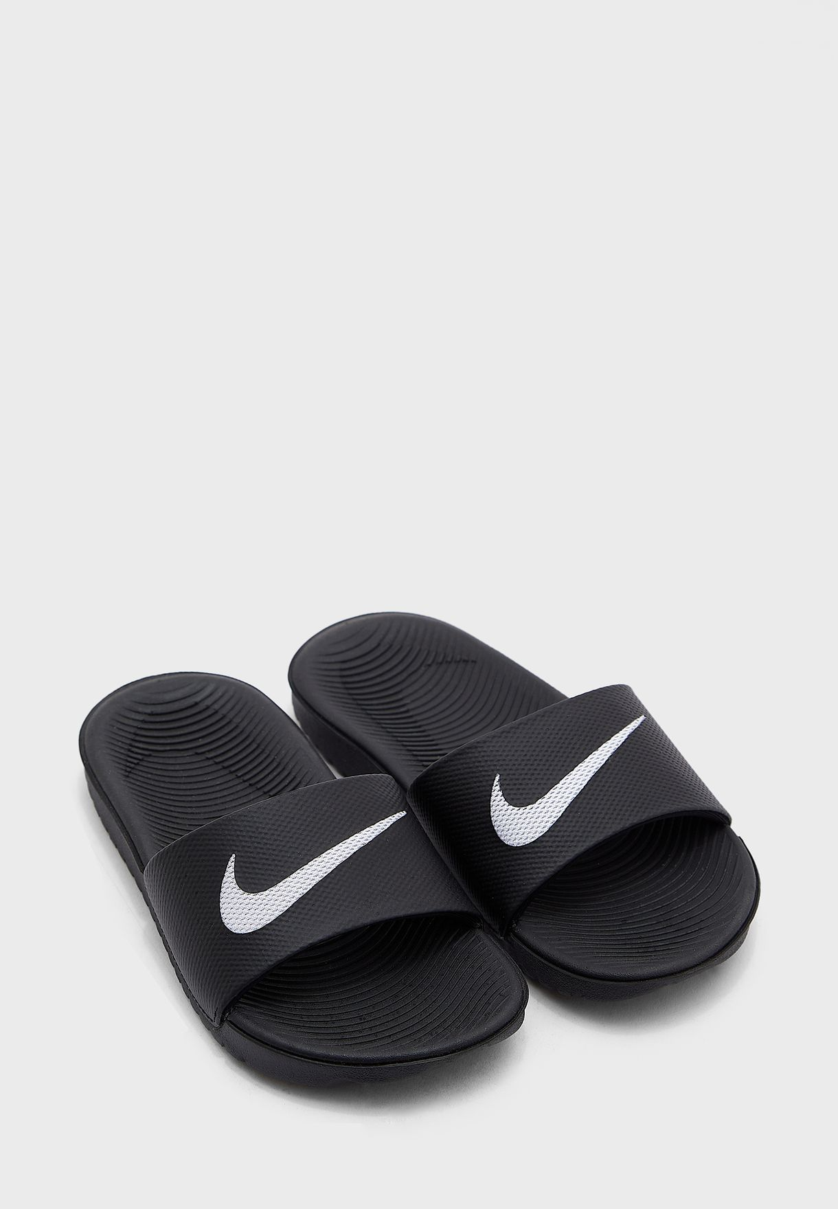 eb34c3cb9f76be Shop Nike black Kawa Slide Kids 819352-001 for Kids in Qatar ...