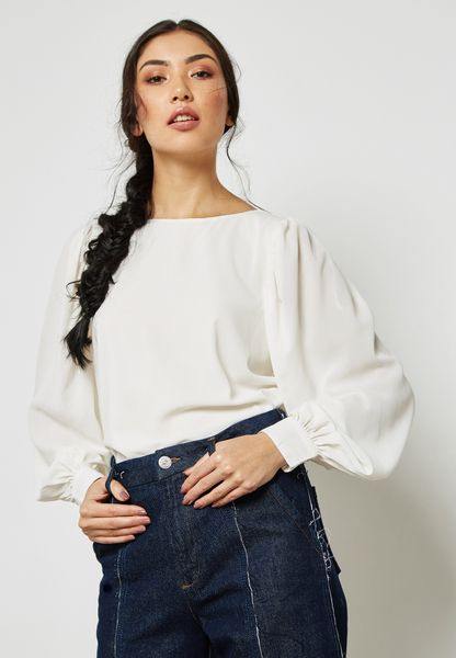 Sleeve Pleated Top