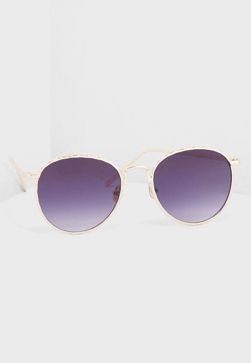 Round Smoke Lense Sunglasses